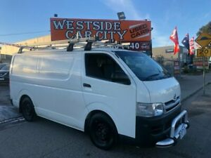 2013 Toyota HiAce KDH201R MY12 Upgrade LWB White 5 Speed Manual Van