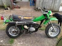 Wanted twinshock motorbike upto 1980s