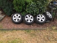 mercedes genuin alloys 16 inch with 4 tyres Pirelli 5mm tread