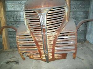 1941 Fargo nose from out west. Steering column, heater box