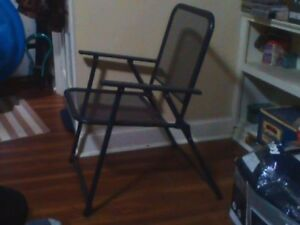 Two Folding chairs, metal