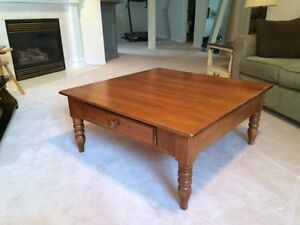 Solid maple Durham Furniture coffee table