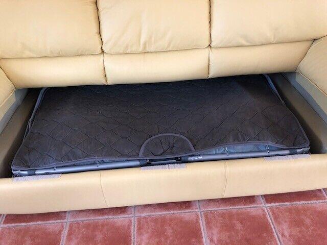 Canape 3 places en cuir zanussi convertible