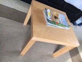 Square coffee/side tables. Wooden with beech finish.