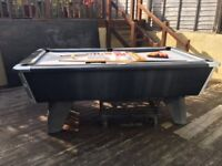 Billiards Pool Table £400.00 working order collection of balls and 2 cues included