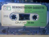 VERY RARE SONY DM CD-803 / YGSK-28 DEMONSTRATION CASSETTE TAPES 1974
