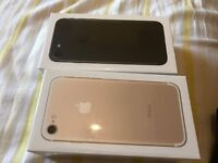 2x iPhone 7 32 gb black and gold Brand New