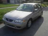 REDUCED THIS WKND ONLY 2001 Toyota Corolla SAFETY LOW KMS