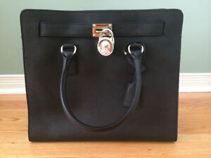 Michael Kors black hamilton large saffiano leather tote