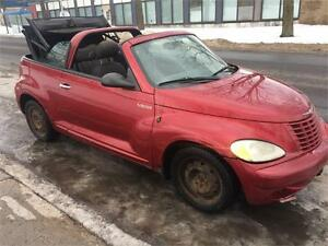 2005 CHRYSLER PT-CRUISER CONVERTIBLE, AUTOMATIQUE , 4 CYLINDRE