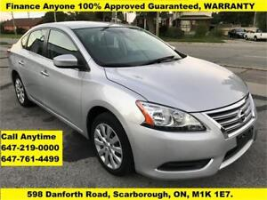 2013 Nissan Sentra S FINANCE 100% Guaranteed WARRANTY 37,176 KM