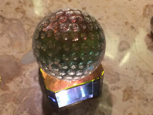 Crystal Figurine - Golf Ball with Stand