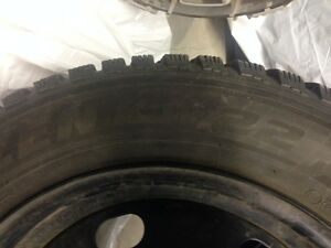 Set of 4 snow tires in rims