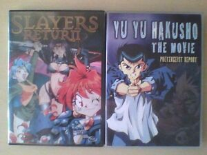 Slayers Return and Yu Yu Hakusho The Move DVD Anime