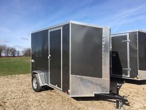 New 6x10 Enclosed Cargo Trailer Ramp Door