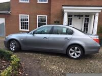 BMW 520d SE 2005 (55 plate) For Sale. Grey metallic paint, very low mileage in good condition.