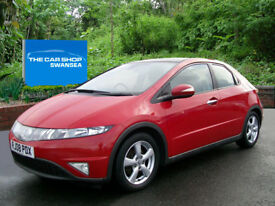 HONDA CIVIC 1.8 i-VTEC ES F.S.H AND FULL GLASS ROOF (milano red) 2008