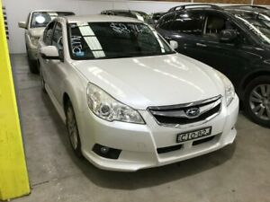 2012 Subaru Liberty B5 MY12 2.5i Lineartronic AWD White 6 Speed Constant Variable Sedan Cardiff Lake Macquarie Area Preview