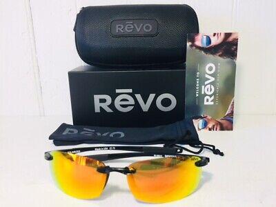 REVO RE4060 01 OG DESCEND E Shiny Black w/Solar Orange POLARIZED Lens Suns (Polarized Sun Lenses)