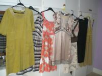 SELECTION OF WOMENS DRESSES - SIZE 14, - J. TAYLOR, CREW, JASPER CONRAN etc.