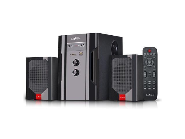 beFree Sound Powered Wireless Speaker System (Pair) Black 91595495M