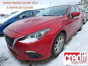 2014 Mazda Mazda3 GS-SKY, À PARTIR DE 51$/SEM 100% APPROUVÉ !