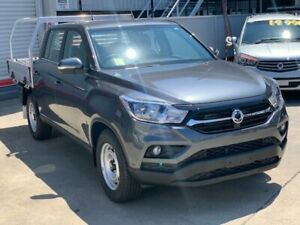 2018 Ssangyong Musso Q200 MY19 EX Marble Grey 6 Speed Automatic Dual Cab Utility Hendra Brisbane North East Preview