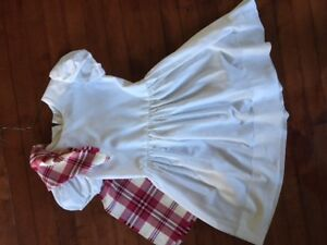 White National Highland Dance Dress with Plaidie
