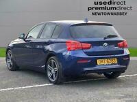 2019 BMW 1 Series 116D M Sport 3Dr [Nav/Servotronic] Hatchback Diesel Automatic