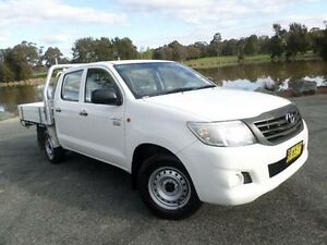 2012 Toyota Hilux TGN16R MY12 Workmate White 5 Speed Manual Dual Cab Pick-up Belconnen Belconnen Area Preview