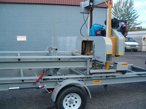 HAWKMILL BANDSAWMILL , TRAILER MODEL/ HYDRAULIC PACKAGE/24 HP Prince George British Columbia image 4