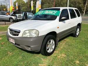 2003 Mazda Tribute Limited White 5 Speed Manual 4x4 Wagon Clontarf Redcliffe Area Preview