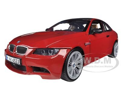 BMW M3 E92 COUPE RED 1:18 DIECAST MODEL CAR BY MOTORMAX 73182 Bmw M3 Coupe Car