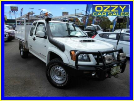 2010 Holden Colorado RC MY10 LX (4x4) White 5 Speed Manual Spacecab