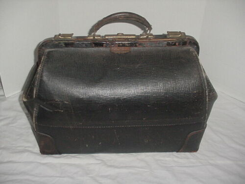 "Vintage 21""  Doctors - Physician House Call Bag / Leather - Cowhide"
