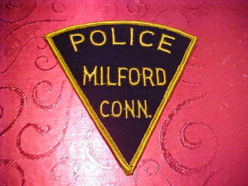 MILFORD CONNECTICUT POLICE PATCH SHOULDER SIZE UNUSED
