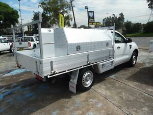 2011 Ford Ranger PX XL 2.2 HI-Rider (4x2) White 6 Speed Manual Cab Chassis Homebush West Strathfield Area Preview