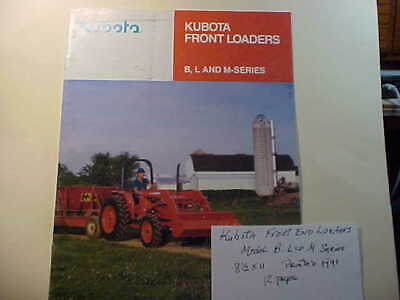 Kubota Front End Loaders 1991 Catalogue  12 Pages Models B L M Series