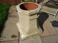 VERY OLD GARDEN CHIMNEY POT OR COTSWOLD STUDIOS PLANTER- 3 CHOICES AVAILABLE TO CHOOSE FROM