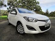 2013 Hyundai i20 PB MY13 Active White 6 Speed Manual Hatchback Old Reynella Morphett Vale Area Preview