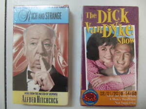 Classic 2pc VHS Lot:  Alfred Hitchcock & Dick Van Dyke Circa1995