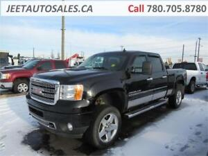 2013 GMC Sierra 2500HD Denali Crew Cab Black on Black, Gas
