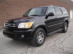 2004 TOYOTA SEQUOIA LIMITED-LOADED DVD LEATHER 4X4