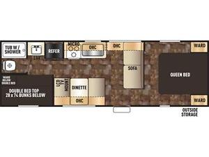 2017 FOREST RIVER GREY WOLF LIMITED 26 BH! BUNKS! $20995!! London Ontario image 2
