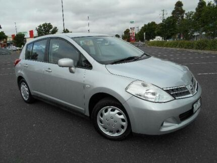2010 Nissan Tiida C11 MY07 ST Silver 4 Speed Automatic Hatchback Maidstone Maribyrnong Area Preview