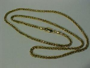 "22k yellow gold-Lobster claw closure-1 owner-Purchased in India-20"" long & weighs 13.5 grams of hallmarked 22K_FREE S/H"