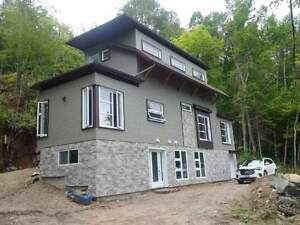 Hillside Ski Chalet for rent on the mountain of Mont Ste. Marie