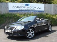 VOLKSWAGEN EOS 2.0 SPORT T FSI 2d 198 BHP NEW MOT AND SERVICE (black) 2007