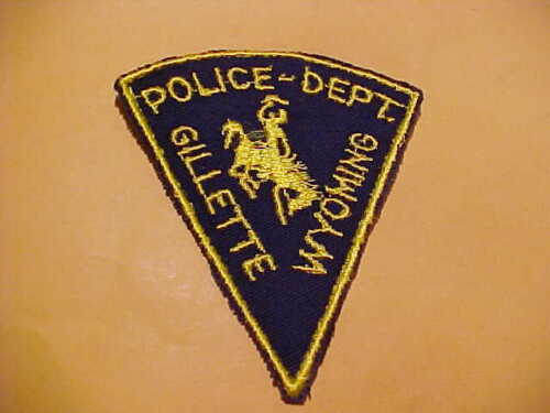 GILLETTE WYOMING POLICE PATCH SHOULDER SIZE UNUSED
