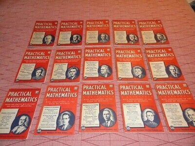 PRACTICAL MATHEMATICS-EditorReginald Stevens Kimball-15 ISSUES- Good (Reginald Good)